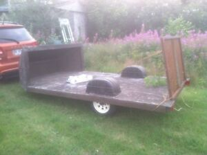 Trailer with Steel Ramp