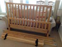 Solid oak bed frame KING size