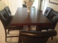 High counter dining table
