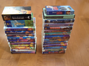 Disney VCR tapes and others