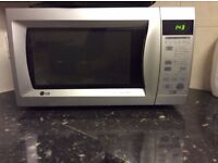 STAINLESS LG MICROWAVE/COOKER BIG CAPACITY BIG SIZE MULTIFUNCTIONAL £50