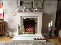 Electric fire and surround (SOLD)