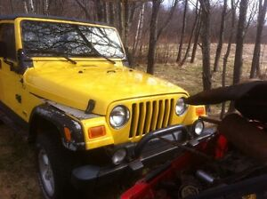 Parting out 2001 jeep TJ