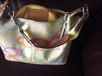 Sweet summery coach purse great condition
