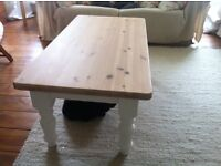Lovely solid pine coffee table