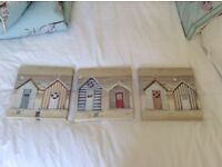 Three small canvas prints