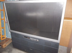 free 50 inch floor model big screen tv still have a good picture