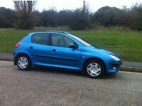 2003 peugeot 206 1.4 hdi diesel only £30 year road tax - genuine 72000 miles