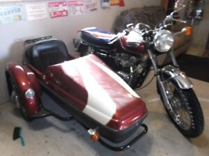 bonniville with side car
