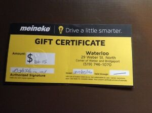 Meineke Weber St Giftcard, valued at $36