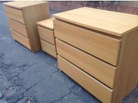 3 sets of IKEA drawers