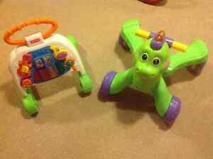 Fisher Price Activity walker & Dino Stride to Ride $10 FOR BOTH!