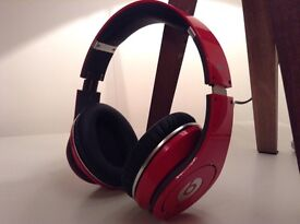 Beats studio wired headphones red