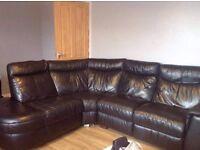 Black L shape sofa