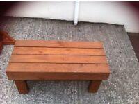 Wooden table handmade