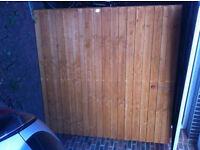Garden Closeboard Fence Panel 6x6