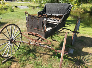 antique horse drawn carriage cart with shaves Kawartha Lakes Peterborough Area image 3