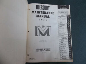 1956 Mercury shop manual London Ontario image 2