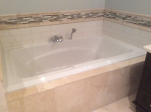 WHITE ACRYLIC DEEP SOAKER TUB FOR SALE