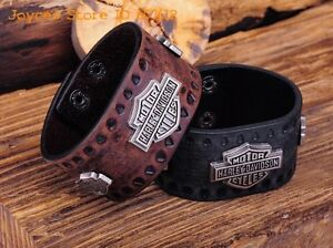 HARLEY DAVIDSON LEATHER BRACELETS - MANY TO CHOOSE FROM London Ontario image 7