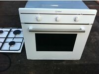 INDESIT Electric OVEN & Gas HOB matching in WHITE