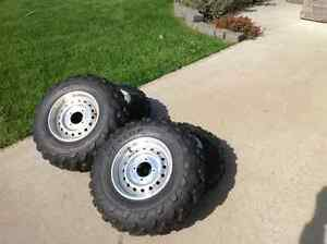 ATV Tires and Aluminum rims in very good condition. Reduced