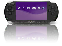 PSP 3000 Black With 1 Game And 1 Film