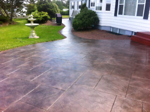 STAMPED COLOURED CONCRETE