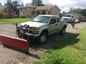 2007 Chevrolet Colorado Pickup Truck With Plow And Snow Blower