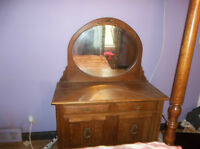 Antique furniture in 1925 Oak Bathroom meuble bois salle de bain
