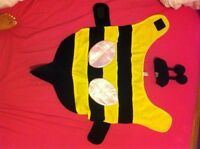 costume halloween chien dog disguise abeille bee jaune noir NEW