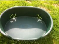 Plastic Dog Bed - as new. Size 66cm