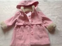 GORGEOUS GIRLS COAT PINK AGE 12/18 months £2