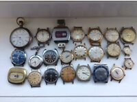 Mixture of old watches some working some not working!