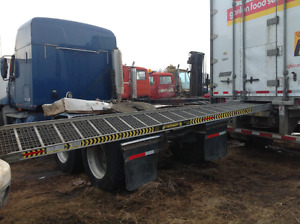 14 foot walk ramp out of pup trailer
