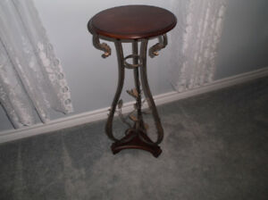 Iron Scroll Side Table