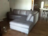 La-z-boy leather Sectional couch