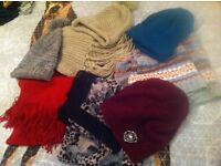 Winter Hats & Scarves mix & match