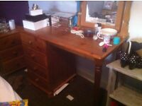 Offered: Pine dressing table and wardrobes