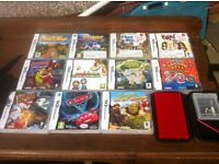 Red DS Lite with 12 games