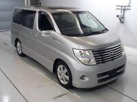FRESH IMPORT 2006 FACE LIFT NISSAN ELGRAND HIGHWAY STAR V6 AUCTION GRADE 4 4WD
