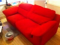 Red 2 Seater Sofa by Reids : free Glasgow delivery
