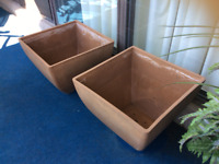 UNREAL DEAL on 2 LARGE PLANTERS, Lovely Shape!