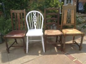 Vintage chairs for upcycling
