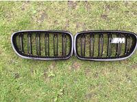 BMW 5 series f10 f11 f18 black m performance kidney grills