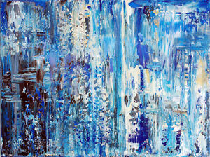 Abstract paintings from artist/hand signed/CAO