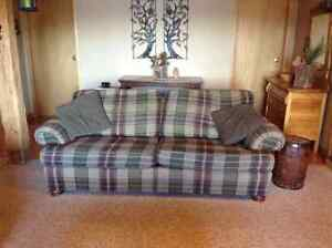 Couch and matching suede recliners