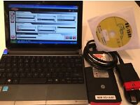 "Full dealer level auto car diagnostic tool latest 15.3 Delphi, WoW & Haynes pro in 10"" Netbook"