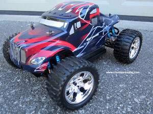 New RC Brushless Electric Truck TOP2 Version LIPO, 4WD 2.4G London Ontario image 2