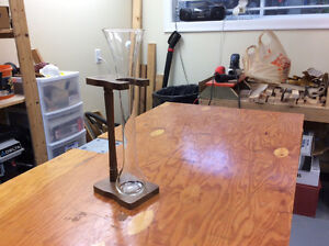 Half yard beer glass & stand.